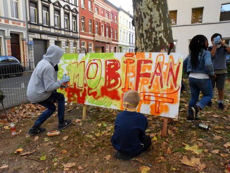 Streetart auf dem Albrechtplatz