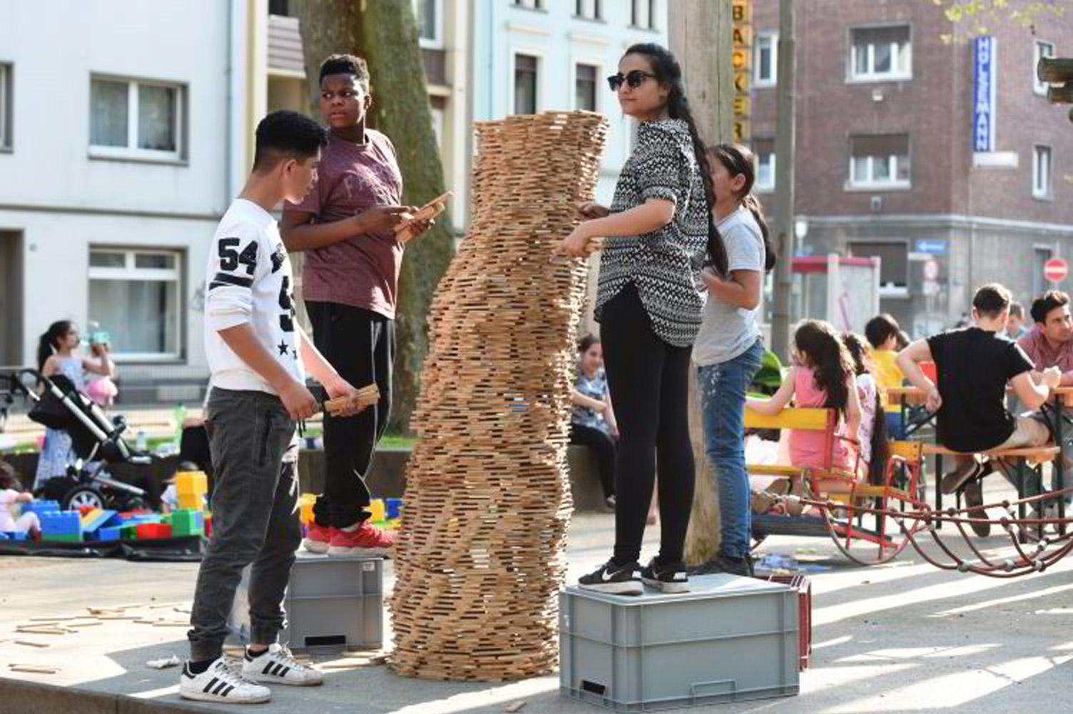Aktion Mobifant auf dem Albrechtplatz, April 2018